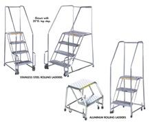 OPTIONS FOR STAINLESS & ALUMINUM ROLLING LADDERS